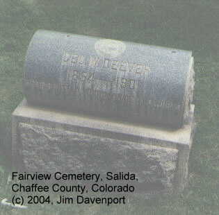 DEEVER, GEO. W. - Chaffee County, Colorado | GEO. W. DEEVER - Colorado Gravestone Photos