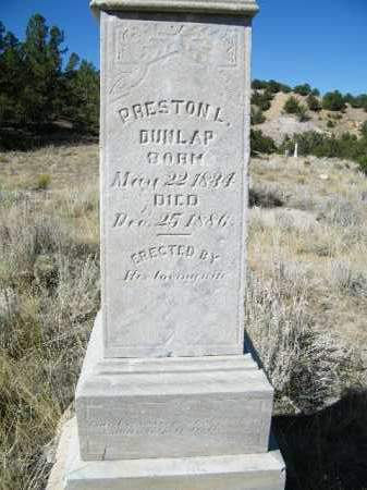 DUNLAP, PRESTON L. - Chaffee County, Colorado | PRESTON L. DUNLAP - Colorado Gravestone Photos