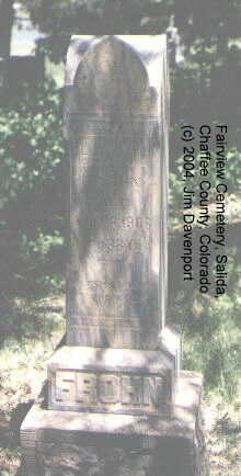 FROHN, HERMAN - Chaffee County, Colorado | HERMAN FROHN - Colorado Gravestone Photos