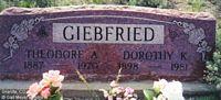 GIEBFRIED, DOROTHY K. - Chaffee County, Colorado | DOROTHY K. GIEBFRIED - Colorado Gravestone Photos