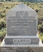 KINION HARRIS, ANNA - Chaffee County, Colorado | ANNA KINION HARRIS - Colorado Gravestone Photos