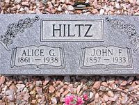 HILTZ, ALICE G. - Chaffee County, Colorado | ALICE G. HILTZ - Colorado Gravestone Photos