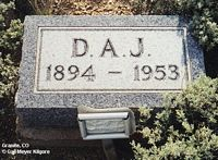 JARDINE, D. A. - Chaffee County, Colorado | D. A. JARDINE - Colorado Gravestone Photos