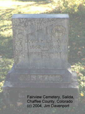 LISCOMB, LOUIS W. - Chaffee County, Colorado | LOUIS W. LISCOMB - Colorado Gravestone Photos