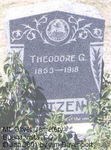 MATZEN, THEODORE G. - Chaffee County, Colorado | THEODORE G. MATZEN - Colorado Gravestone Photos