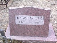 MCQUAID, THOMAS - Chaffee County, Colorado | THOMAS MCQUAID - Colorado Gravestone Photos