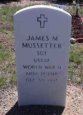 MUSSETTER, JAMES M. - Chaffee County, Colorado | JAMES M. MUSSETTER - Colorado Gravestone Photos