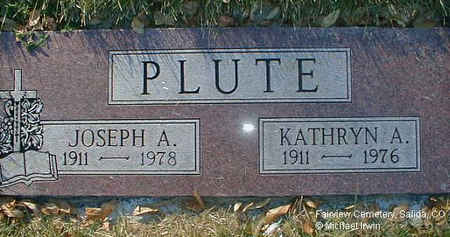 IRWIN PLUTE, KATHRYN ANA - Chaffee County, Colorado | KATHRYN ANA IRWIN PLUTE - Colorado Gravestone Photos