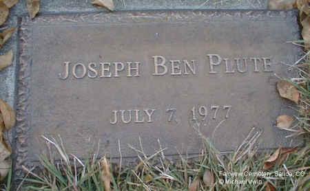 PLUTE, JOSEPH BEN - Chaffee County, Colorado | JOSEPH BEN PLUTE - Colorado Gravestone Photos