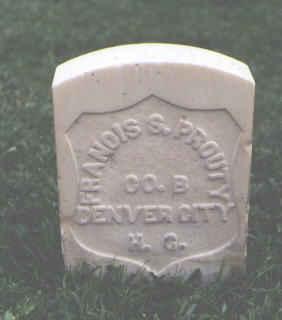 PROUTY, FRANCIS S. - Chaffee County, Colorado   FRANCIS S. PROUTY - Colorado Gravestone Photos