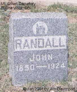 RANDALL, JOHN - Chaffee County, Colorado   JOHN RANDALL - Colorado Gravestone Photos