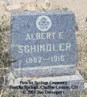 SCHINDLER, ALBERT E. - Chaffee County, Colorado | ALBERT E. SCHINDLER - Colorado Gravestone Photos