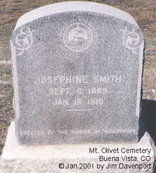 SMITH, JOSEPHINE - Chaffee County, Colorado | JOSEPHINE SMITH - Colorado Gravestone Photos