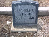 STARR, FRANCIS T. - Chaffee County, Colorado | FRANCIS T. STARR - Colorado Gravestone Photos