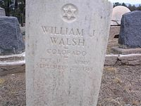 WALSH, WILLIAM J. - Chaffee County, Colorado | WILLIAM J. WALSH - Colorado Gravestone Photos