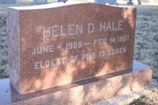HALE, HELEN D - Cheyenne County, Colorado | HELEN D HALE - Colorado Gravestone Photos