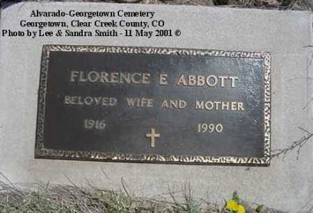 ABBOTT, FLORENCE E. - Clear Creek County, Colorado | FLORENCE E. ABBOTT - Colorado Gravestone Photos