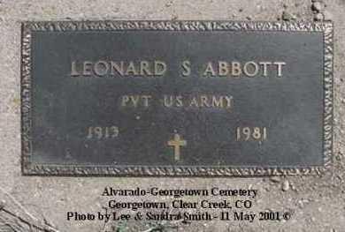ABBOTT, LEAONARD - Clear Creek County, Colorado   LEAONARD ABBOTT - Colorado Gravestone Photos
