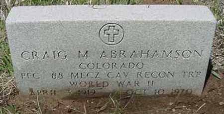 ABRAHAMSON, CRAIG M. - Clear Creek County, Colorado | CRAIG M. ABRAHAMSON - Colorado Gravestone Photos
