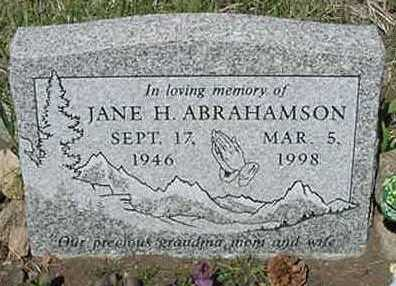 ABRAHAMSON, JANE H. - Clear Creek County, Colorado | JANE H. ABRAHAMSON - Colorado Gravestone Photos