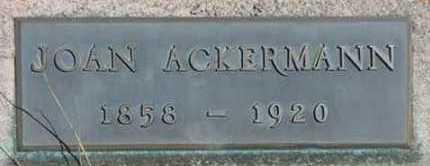 ACKERMAN, JOAN - Clear Creek County, Colorado   JOAN ACKERMAN - Colorado Gravestone Photos