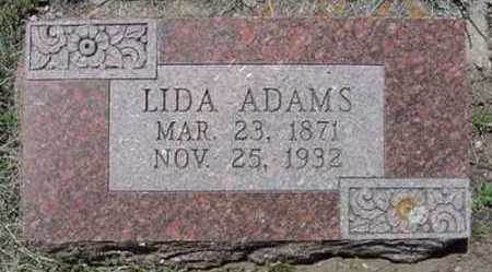ADAMS, LIDA - Clear Creek County, Colorado | LIDA ADAMS - Colorado Gravestone Photos