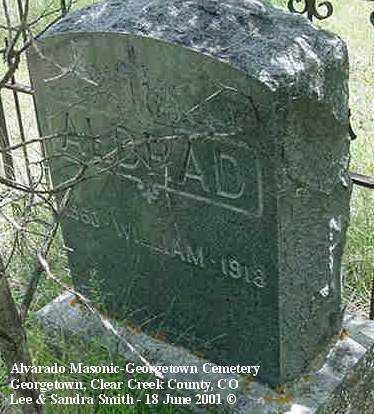 ALDRAD, WILLIAM - Clear Creek County, Colorado | WILLIAM ALDRAD - Colorado Gravestone Photos