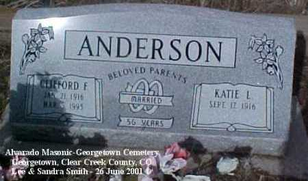 ANDERSON, CLIFFORD F. - Clear Creek County, Colorado | CLIFFORD F. ANDERSON - Colorado Gravestone Photos
