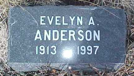 ANDERSON, EVELYN A. - Clear Creek County, Colorado | EVELYN A. ANDERSON - Colorado Gravestone Photos