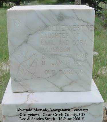 ANDERSON, MABEL ERNESTINE - Clear Creek County, Colorado | MABEL ERNESTINE ANDERSON - Colorado Gravestone Photos