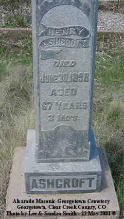ASHCROFT, HENRY - Clear Creek County, Colorado | HENRY ASHCROFT - Colorado Gravestone Photos