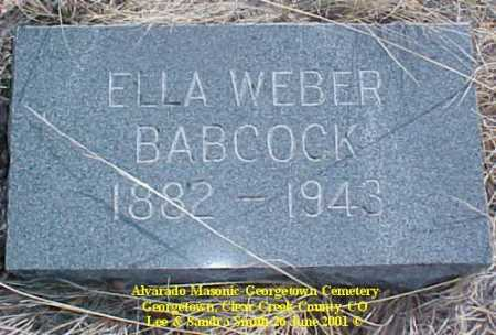 BABCOCK, ELLA - Clear Creek County, Colorado | ELLA BABCOCK - Colorado Gravestone Photos