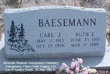 BAESEMANN, CARL J. - Clear Creek County, Colorado | CARL J. BAESEMANN - Colorado Gravestone Photos