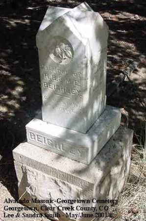 BEIGHLEY, CHARLES GARFIELD - Clear Creek County, Colorado | CHARLES GARFIELD BEIGHLEY - Colorado Gravestone Photos