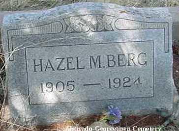 BERG, HAZEL M. - Clear Creek County, Colorado | HAZEL M. BERG - Colorado Gravestone Photos