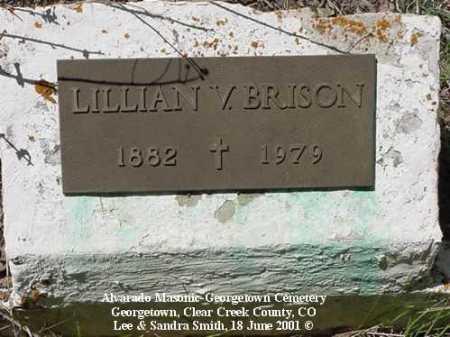 BRISON, LILLIAN V. - Clear Creek County, Colorado | LILLIAN V. BRISON - Colorado Gravestone Photos