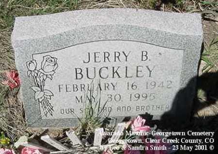 BUCKLEY, JERRY B. - Clear Creek County, Colorado   JERRY B. BUCKLEY - Colorado Gravestone Photos