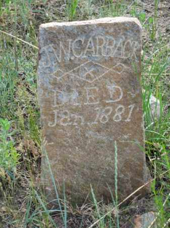 CARBACK, J.W. - Clear Creek County, Colorado | J.W. CARBACK - Colorado Gravestone Photos