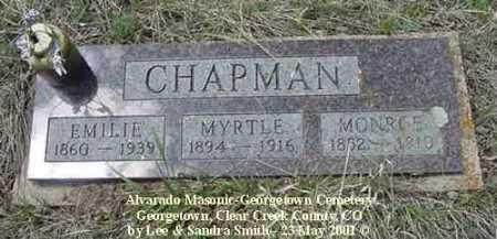 CHAPMAN, MYRTLE - Clear Creek County, Colorado | MYRTLE CHAPMAN - Colorado Gravestone Photos