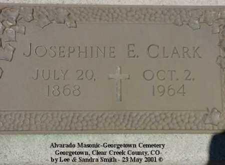 CLARK, JOSEPHINE - Clear Creek County, Colorado | JOSEPHINE CLARK - Colorado Gravestone Photos