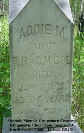 COE, ADDIE M. - Clear Creek County, Colorado | ADDIE M. COE - Colorado Gravestone Photos