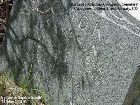 COOK, REBECCA - Clear Creek County, Colorado   REBECCA COOK - Colorado Gravestone Photos