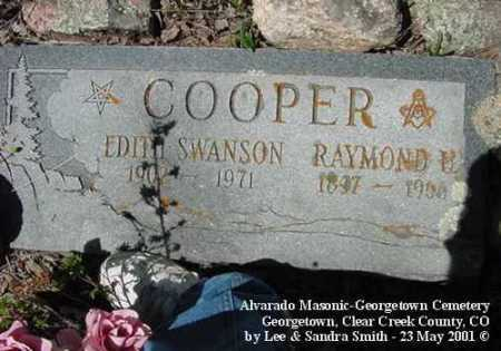 COOPER, RAYMOND U. - Clear Creek County, Colorado | RAYMOND U. COOPER - Colorado Gravestone Photos