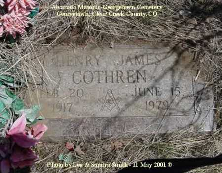 COTHREN, HENRY JAMES - Clear Creek County, Colorado | HENRY JAMES COTHREN - Colorado Gravestone Photos