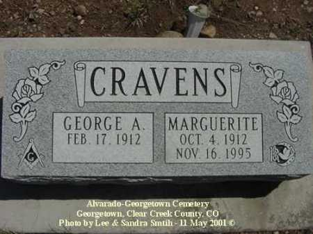 CRAVENS, GEORGE A. - Clear Creek County, Colorado | GEORGE A. CRAVENS - Colorado Gravestone Photos