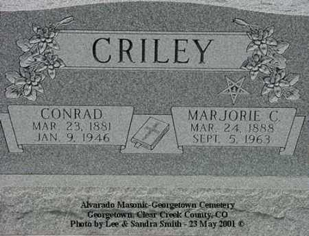 CRILEY, MARJORIE C. - Clear Creek County, Colorado | MARJORIE C. CRILEY - Colorado Gravestone Photos