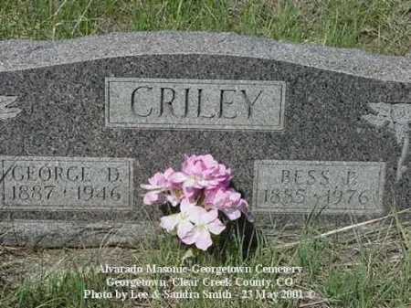 CRILEY, GEORGE D. - Clear Creek County, Colorado | GEORGE D. CRILEY - Colorado Gravestone Photos