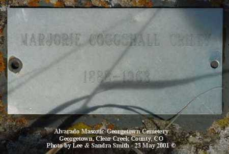 COGGSHALL CRILEY, MARJORIE - Clear Creek County, Colorado | MARJORIE COGGSHALL CRILEY - Colorado Gravestone Photos