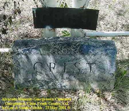 CRIST, MONUMENT - Clear Creek County, Colorado | MONUMENT CRIST - Colorado Gravestone Photos