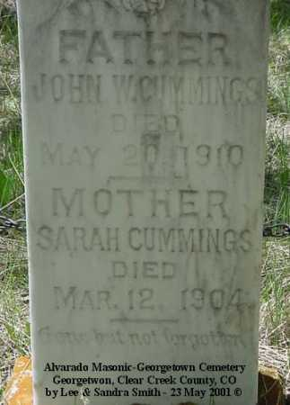CUMMINGS, JOHN W. - Clear Creek County, Colorado | JOHN W. CUMMINGS - Colorado Gravestone Photos